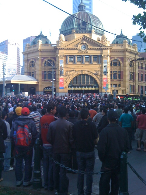 Sunday Protest at Flinders St